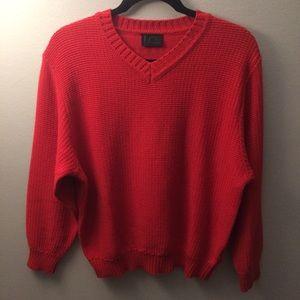 Bogner vermillion sweater size 10 sweater fits L